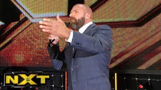Triple H thanks the NXT Universe in Orlando for braving the aftermath of Hurricane Irma