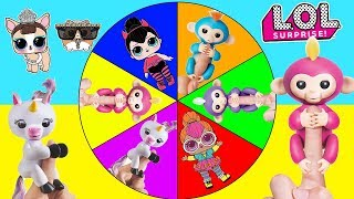 Video Fingerlings Game with LOL Surprise Pets Real vs Fake Spin the Wheel | Ellie Sparkles download MP3, 3GP, MP4, WEBM, AVI, FLV November 2017