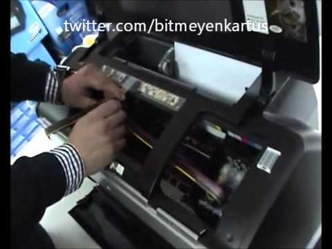 Bitmeyen Kartuşlu Epson R1400 Tank Takma Videosu