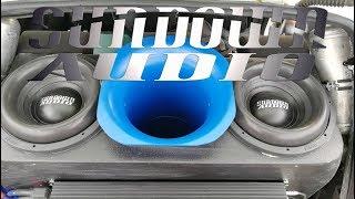 Обзор Лады Калины Sundown Audio/155.5 С Багажника!