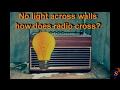 How WiFi/Radio crosses/penetrates/pass through the wall where light fails?