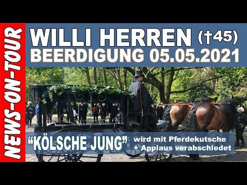 Willi Herren Beerdigung † mit Pferdekutsche & Applaus! 05.05.2021 Melaten Friedhof Köln Kölsche Jung