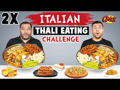 2 X ITALIAN THALI EATING CHALLENGE | Thali Challenge | Food Eating Competition | Viwa Food World