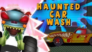 Car Wash Cartoons - Haunted House Monster Truck Videos for Kids