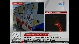 24 Oras: Mahigit 1k applicants, pumila sa DFA Passport on Wheels