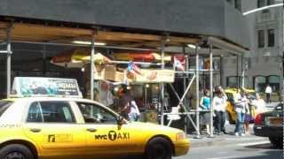 Onion Crunch And A Hot Dog Cart In New York City