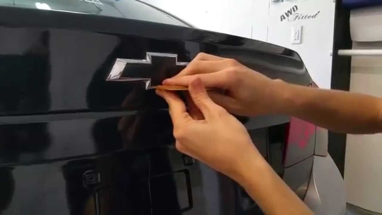 Chevy Bowtie Installation DIY Video YouTube - Chevy bowtie rear window decal