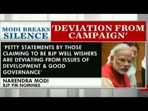 Modi breaks silence about Togadia & Giriraj comments