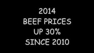 Beef Prices Up 30% For 2014 ~ 760-625-1509