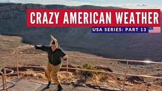 Brits Try American Food | Hot Dog Drive Thru + Meteor Crater Flagstaff | Brits in America Part 13