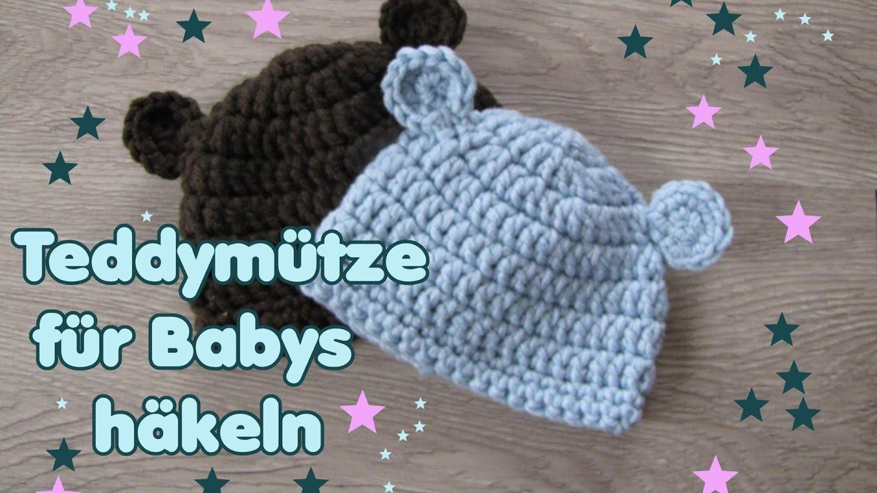 Bärchen Mütze Babymütze In Zwei Größen Auch Schriftl Youtube