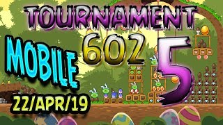 Angry Birds Friends Level 5 MOBILE Tournament 602 Highscore POWER-UP walkthrough #AngryBirds