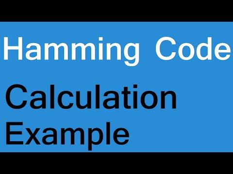 Hamming code error detection and correction example, calculation algorithm program computer network