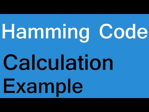 Hamming code error detection and correction example, calculation algorithm program computer network