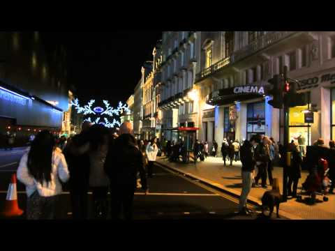 Cycling @ Piccadilly Circus and nearby, New Year Eve 2015