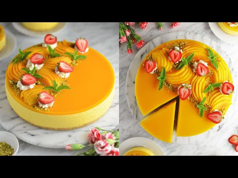 the-ultimate-no-bake-mango-cheesecake-|-light-&-fluffy-mango-mousse-cake-|-eggless-|-lime-thyme