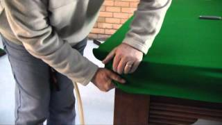 How To Re-cloth A Pool Snooker Table Part 4 Of 4