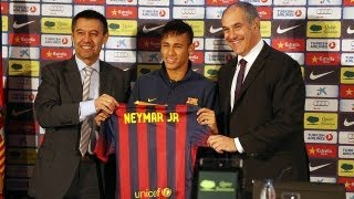 FC Barcelona - Bartomeu i Zubizarreta expliquen els detalls dels fitxatge de Neymar