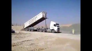 tipper truck overload falling