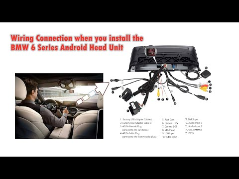How To Connect Wires For BMW 6 Series F06 F12 Android GPS Navigation Head Unit?