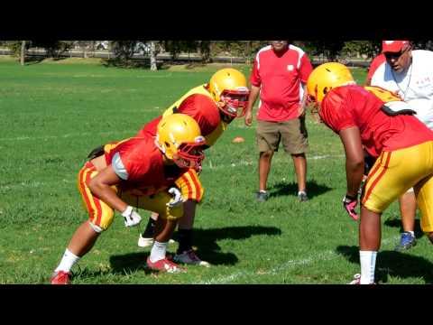 Whittier Christian High School football practice Whittier, CA