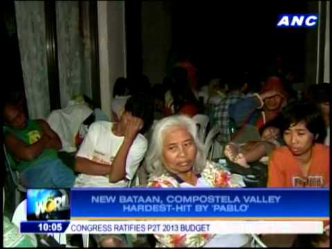 New Bataan hardest-hit by 'Pablo'
