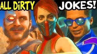 Mortal Kombat 11 - ALL DIRTY JOKE INTROS Verry Funny Banter Dialogues MK11