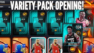 VARIETY PACK OPENING!! NEW 104 OVR BUTLER & WESTBROOK!! NBA LIVE MOBILE 20