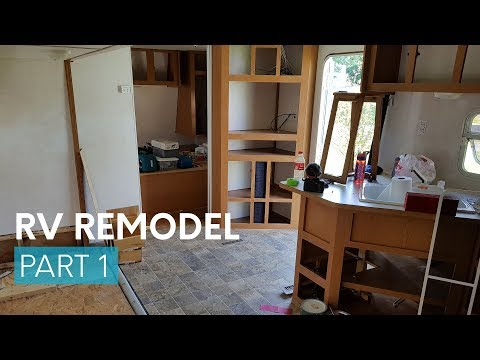 RV Travel Trailer Remodel: prep, painting & water damage discovery
