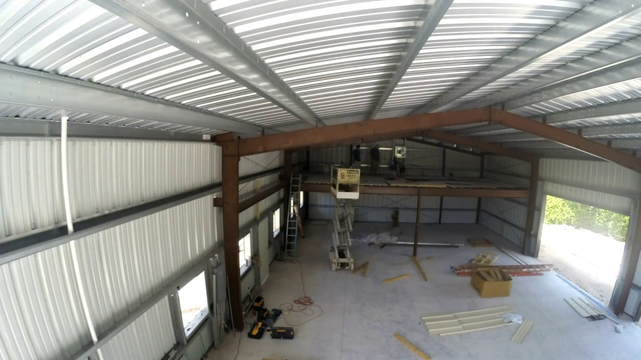 Day 12 of the construction of my 40x60 metal building for Garage building contractors