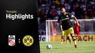 Highlights Testspiel   Rot-Weiß Erfurt - BVB 2:5