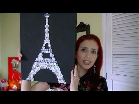 Diy cuadro de torre eiffel hecha con botones youtube - Cuadros con botones ...