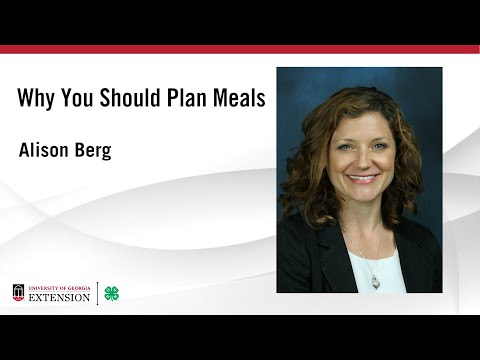 Nutrition and Meal Planning: Why you should plan your meals