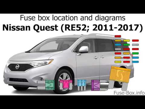 Fuse box location and diagrams: Nissan Quest (RE52; 2011-2017) - YouTubeYouTube
