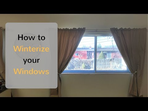 How To Winterize  A Window With Plastic Film - Stop Cold Drafts - Save Money - DIY
