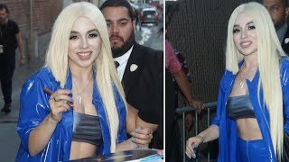 Ava Max Hangs Out With Fans Before Performing On Jimmy Kimmel Live