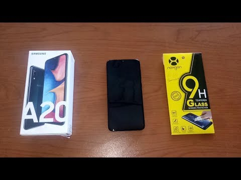 How to Install Tempered Glass Screen Protector : Samsung Galaxy A20 Ram 3GB Internal 32GB