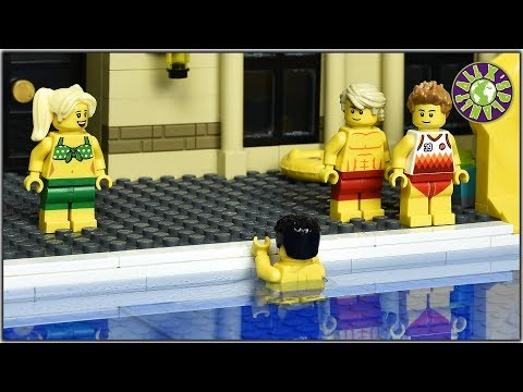 Lego Swimming Pool (with real water).