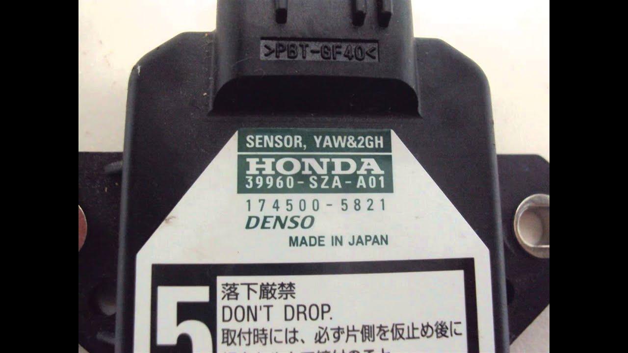 2009 Honda PILOT YAW AND G RATE SENSOR 39960-SZA-A01 ...