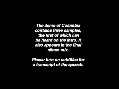 Oasis - Columbia demo (Sample 1: Intro speech)