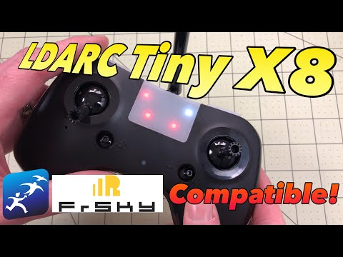 KingKong LDARC Tiny X8 Transmitter Radio Review and Firmware Install – It's FrSky Compatible!