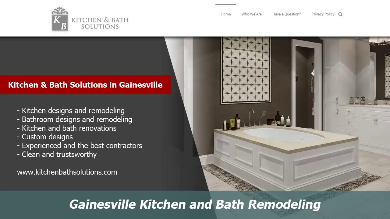 Bathroom Remodel Gainesville Fl gainesville kitchen and bath remodelers :: kitchen bath solutions