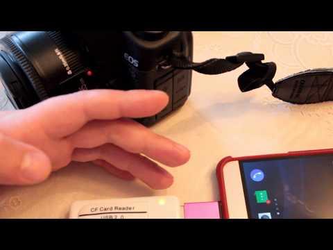 Кардридер для CF карт, CF карта, OTG, приложения для просмотра RAW файлов с  Android смартфонов