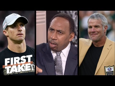 Stephen A. ranks Drew Brees above Brett Favre on all-time greatest QBs list | First Take