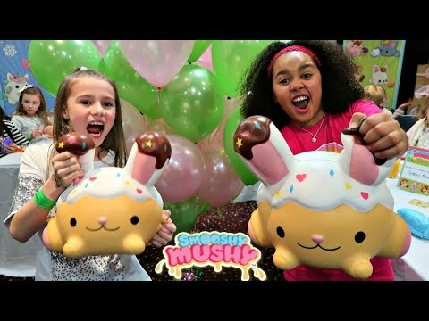 Giant Squishy Toys Challenge!! Smooshy Mushy Party | Toys AndMe