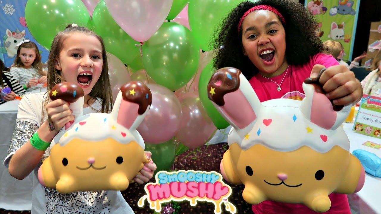 Giant Squishy Toys Challenge!! Smooshy Mushy Party Toys AndMe - YouTube