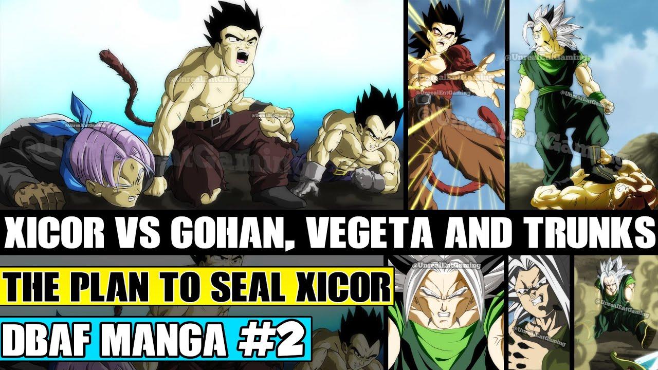 Dragon ball af chapter 2 super saiyan 4 gohan 39 s ultimate struggle against xicor fan manga - Dragon ball gohan super saiyan 4 ...
