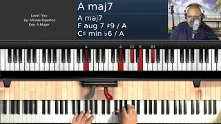 Lovin' You (by Minnie Riperton) - Piano Tutorial