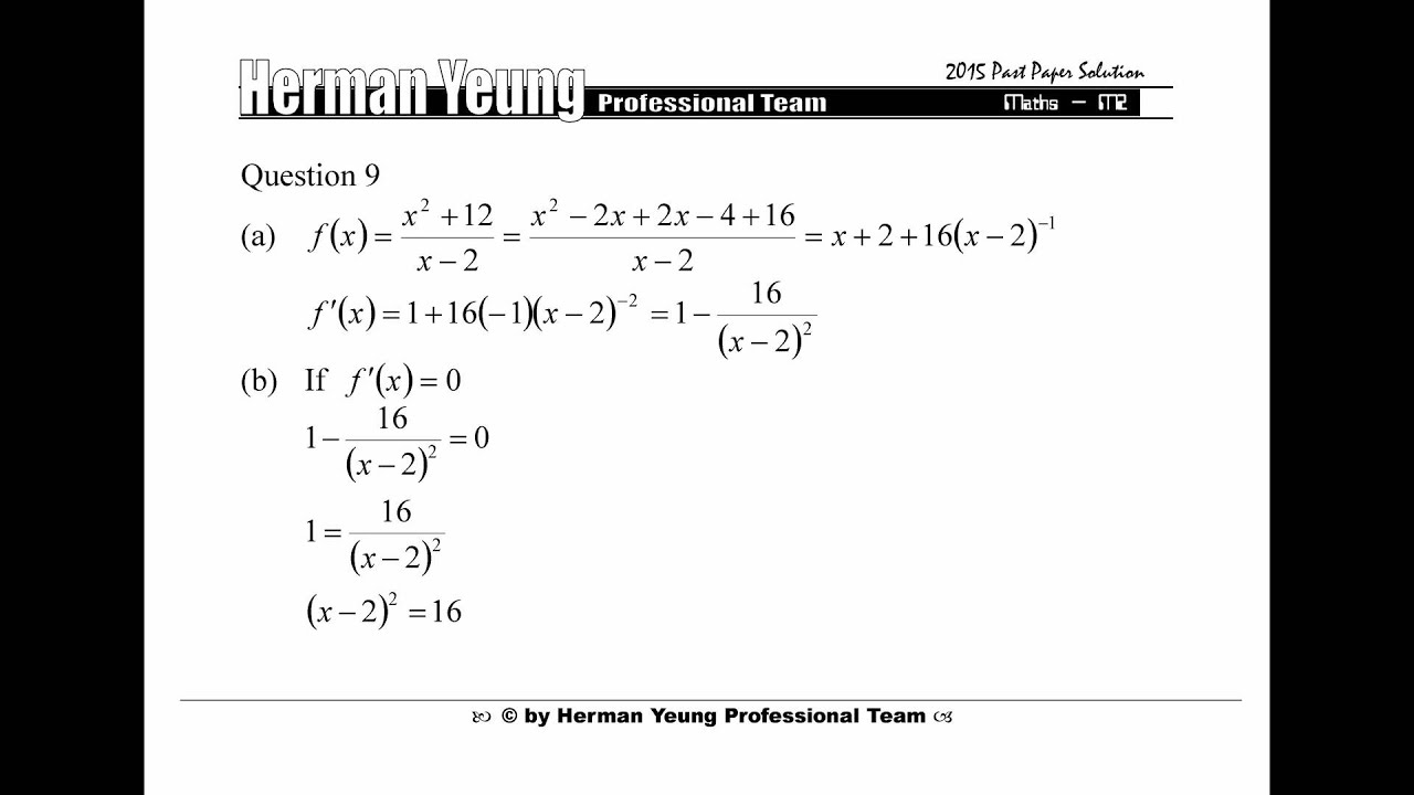 DSE 2015 Maths M2 Past Paper Detail Solution (Herman Yeung)