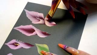 Учимся китайке, урок 5. 2часть. Рисуем цветы